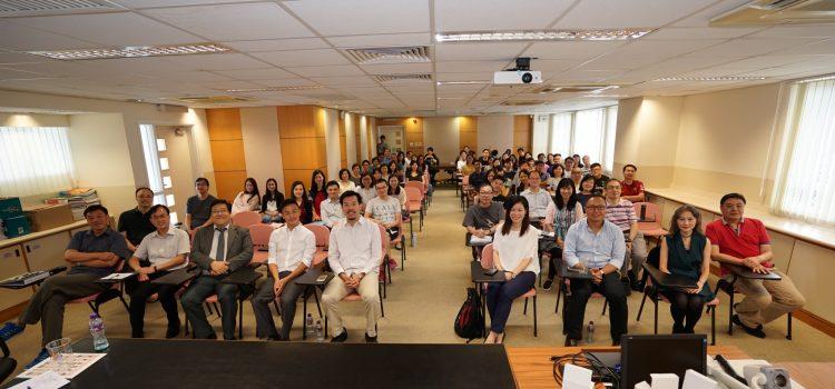 "Alumni sharing on ""Work Attitudes"" with all staff"