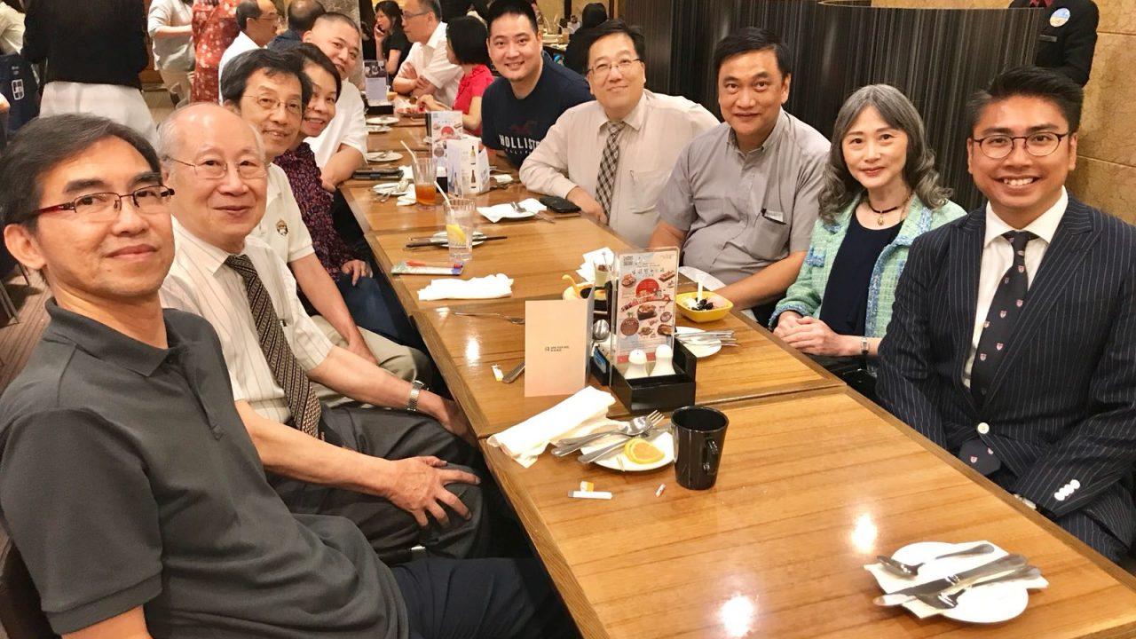 Alumni at Annual Staff Lunch
