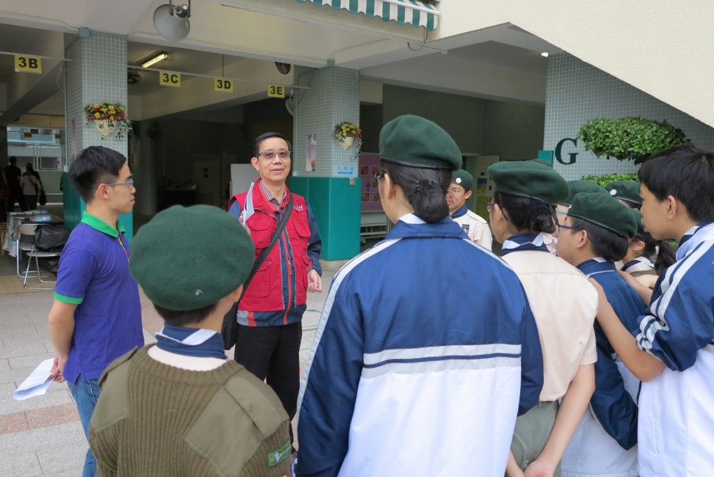 Scouts instructed by former discipline master Mr Fung MT