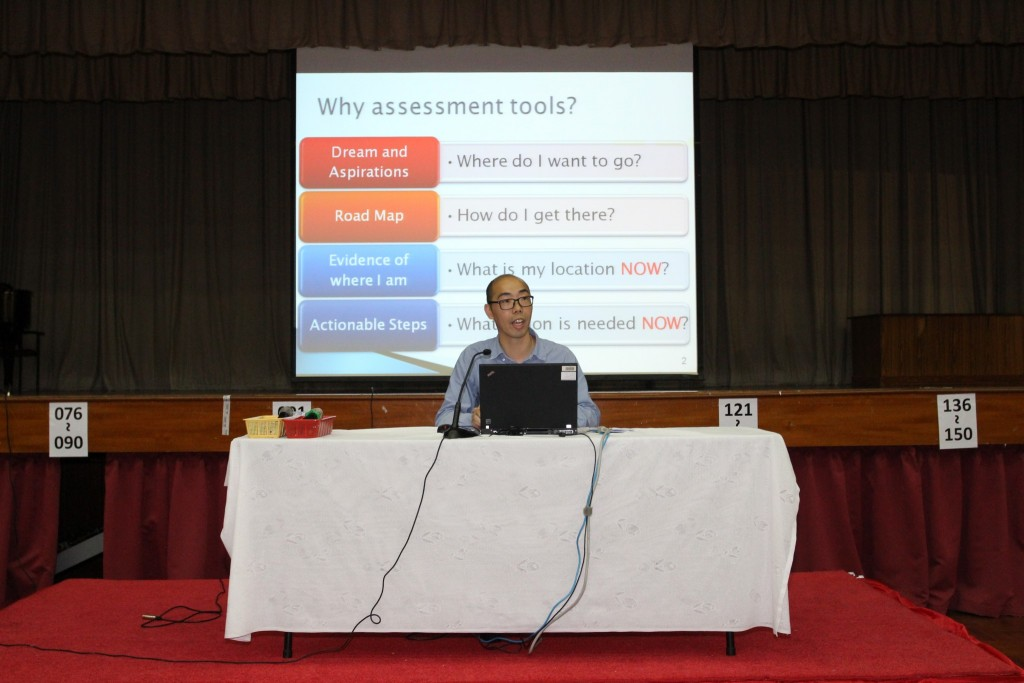 10b_Subject Teacher Mr Chan Pun Sin presenting