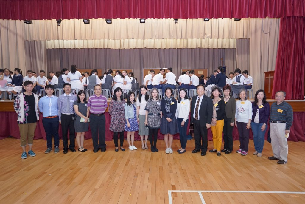 Shatin Church speakers took a group photo with the principal and Career Teachers