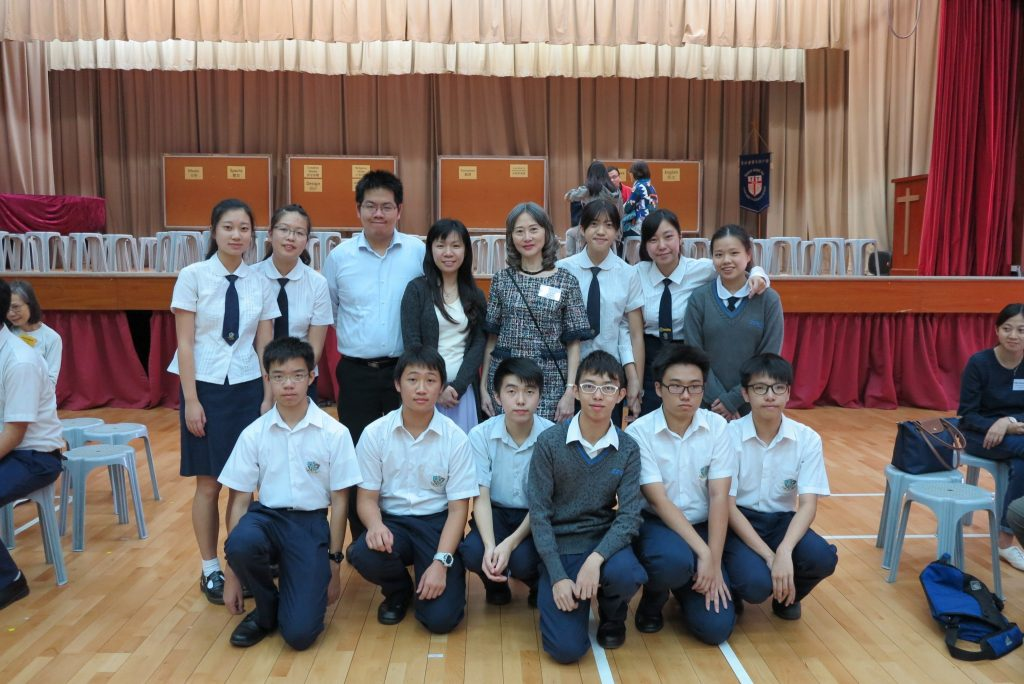 Teachers and students from Stewards Pooi Kei College with Career Mistress Mrs Tam (2nd row, fourth from right).