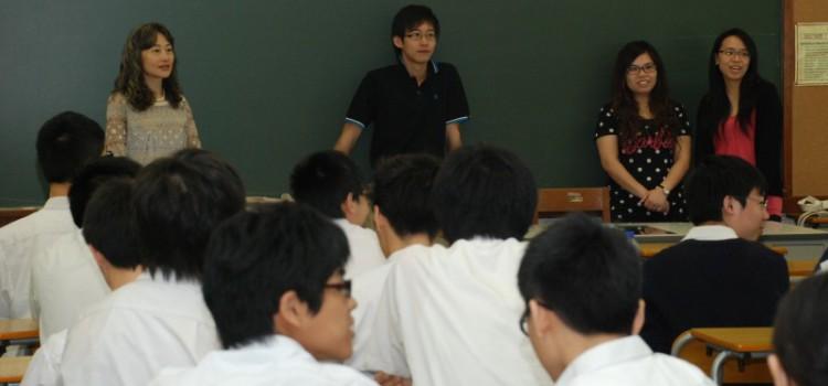 校友與中五學生分享